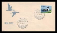 Iceland 1967 FDC, Great Northern Diver. Lot # 3.