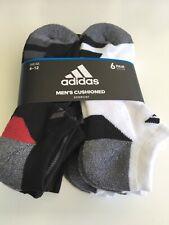 New Mens Adidas 6 Pack Sport Gym Fitness Aeroready Dri Tech White Low Cut Socks