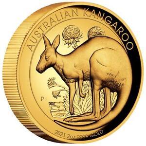 Australien - 200 Dollar 2021 - Kangaroo / Känguru - High Relief - 2 Oz Silber PP