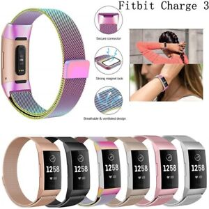 For Fitbit Charge 3 Strap Replacement Accessory Band Stainless Steel Magnet UK
