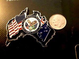 Rare NYPD Australia liaison challenge coin  LEO