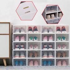 Schuhbox Schuhkarton Schuhaufbewahrung Schuhschachtel Stapelbox Sortierbox SL DE