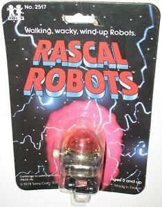 Vintage 1978 Tomy Red Head Rascal Robots Wind Up Robot NIB Sealed