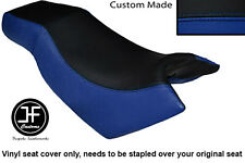 BLACK R BLUE VINYL CUSTOM FOR KYMCO CK PULSAR 125 OLD SHAPE DUAL SEAT COVER ONLY
