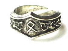 OTHILA Viking Dragon Head Rune Ring, Inheritance, Letter 'O'. Adjustable