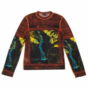 Jean-Paul GAULTIER HOMME Printed See-through T Shirt Size 48(K-96989)