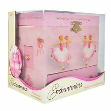Enchantmints Music Girls Pink Princess Ballerina Musical Jewelry Organizer Box