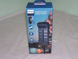 Philips Timer Outdoor Stake 6 Grounded Outlets Digital Timer Landscaping Holiday