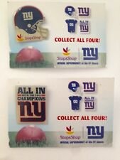 NY GIANTS Collectible Pins from Stop and Shop