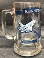 Vintage Nasa Space Shuttle Kennedy Space Centre Glass Tankard Space Souvenir
