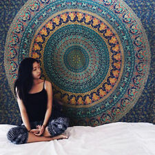 Mandala Cotton Wall Hanging  Bedspread Bed sheet Hippie Indian Tapestry TA12