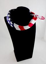 Skinny Scarf Bandana Red White Blue USA Flag Patriotic Square