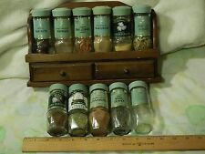 Vtg. McCormick [Spices & Rack] LOT of 11 GLASS JARS *Turkish Bay Leaves~Saffron+