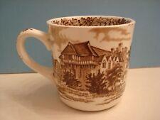 Vintage Brown STOKESAY CASTLE Romantic England Mug J. & G. MEAKIN China