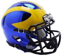 Michigan Wolverines Alternate Chrome NCAA Riddell Speed Mini Helmet