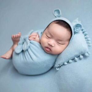 3Pcs/Set Baby Hat Pillow Wrap Newborn Photography Infants Photo Shooting Props
