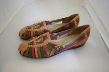Womens Softspots Multicolored Leather Woven Shoes FLats Sandals Size 9M