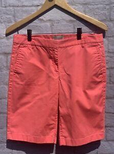 "J. Crew Bright Pink Bermuda Walking Shorts Women's Size 4 Inseam 10"" EUC"