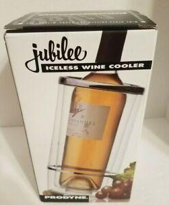 PRODYNE Jubilee Acrylic Iceless Wine Cooler Single Bottle Chrome Accent