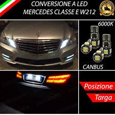 COPPIA LUCI DI POSIZIONE + COPPIA LUCI TARGA 5 LED CANBUS MERCEDES CLASSE E W212