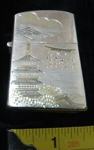 Japanese 950 silver lighter case Zippo compatible 30 g - excellent condition -