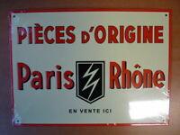 PB3F PLAQUE PUBLICITAIRE tolée age d'or Automobile n°79 : 21*29 cm PARIS/RHONE