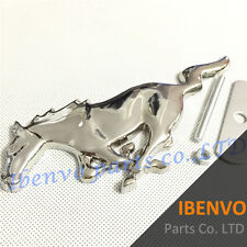 Biggest Silver Running Horse Grille Metal Emblem Badge W/ Mount for Ford Mustang