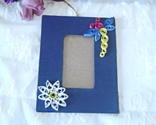 Handcrafted Blue Dragonfly Hanging Picture Frame Paper Quill