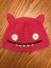 UGLY DOLL Uglyhat Pink Crocheted Beanie Cap Bat Wings Child's SMALL FREE SHIP
