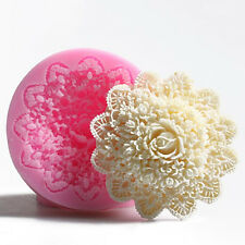 Large Silicone Mould Fondant Lace Flower Cake Mold Decoration Baking Mould Tool