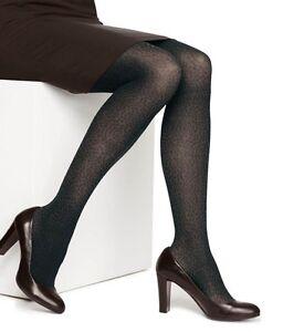 Hanes Tights Sz M Echo Grey Animal Print Control Top Fashion Tight 0C111