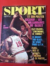 1971 SPORT et son poster n°6 BASKET AMERICAIN PARIS NICE GALLES IRLANDE CLAY
