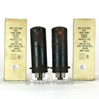 True NOS NIB Matched Pair RCA USA JAN-CRC-6L6Y Metal Brown Base, Rust Tubes