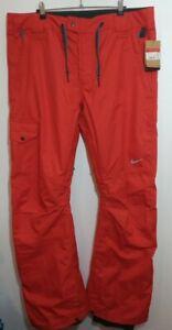 Mens Nike Gamma Orange Ski Snowboard Pant Trousers Size Large L