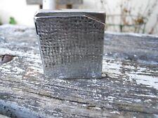Vintage Briquet  à gaz  Maruman Halley  métal Argenté