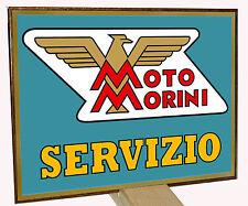 MOTO MORINI  SERVIZIO II -TARGA  METALLO - RIP. D'EPOCA