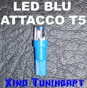 LED BLU T5 INVERTITI LUCI LAMPADINE CRUSCOTTO QUADRO STRUMENTAZIONE per AUTO 12V