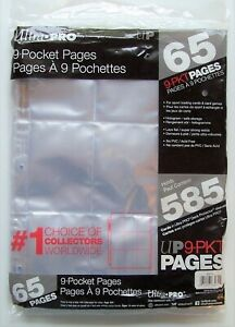 New Ultra PRO Deck Protector 9-Pocket Trading Card Pages 65 pack