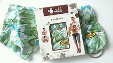 Brand new baby ring sling porte-bébé vert clair transportant appareil près de confort