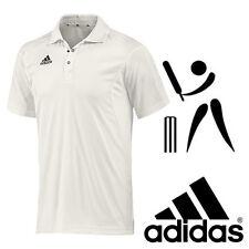 Youth 14 Years adidas Cricket Polo Shirt Short Sleeve White Junior Boys V13740