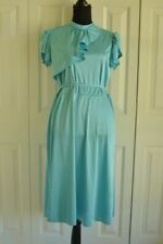1940s Baby Blue Calf Length Gown Size S/M