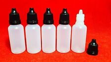 50 PCS 15ml EMPTY PLASTIC SQUEEZABLE LIQUID DROPPER BOTTLES~LDPE NON-CHILDPROOF