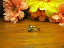 Girls Turquoise Balll Adjustable Fashion Ring