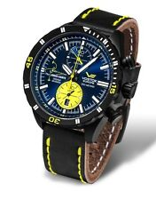 Vostok Europe ALMAZ Space Station Titanium Chrono Black/Yellow Watch 6S11/320J36