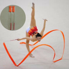 4M Red Gymnastic Yoga Dance Ribbon Streamer Baton Twirling Rod Sports Stick