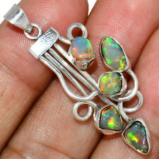 Ethiopian Opal Rough 925 Sterling Silver Pendant Jewelry AP195938 146S