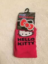 Girls Children Hello Kitty Pink Socks Shoe Sizes 4 - 8