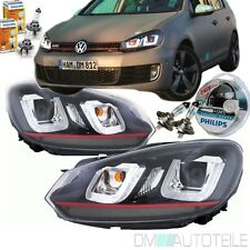 DM ORIGINALE VW GOLF 6 FANALI SET 08-12 barra rossa 3d U LED GTI Design