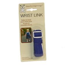 Adjustable safety wrist link Walking Rein Harness  Strap Kids Childrens Blue