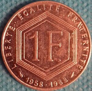 PIÈCE MONNAIE 1 FRANCS NICKEL 1988 CHARLES DE GAULLE Ref : 00032